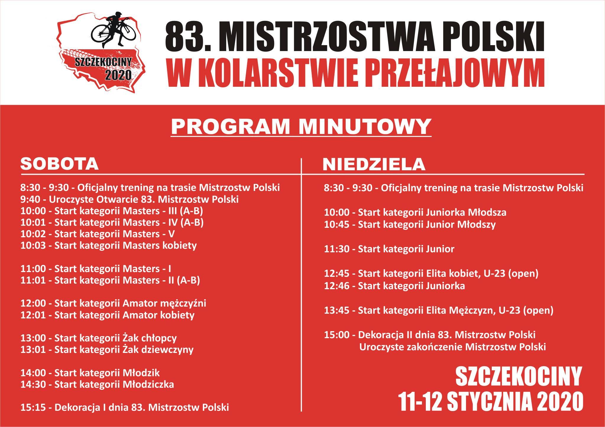 83 mistrzostwa Polski wkolarstwie przełajowym Szczekociny