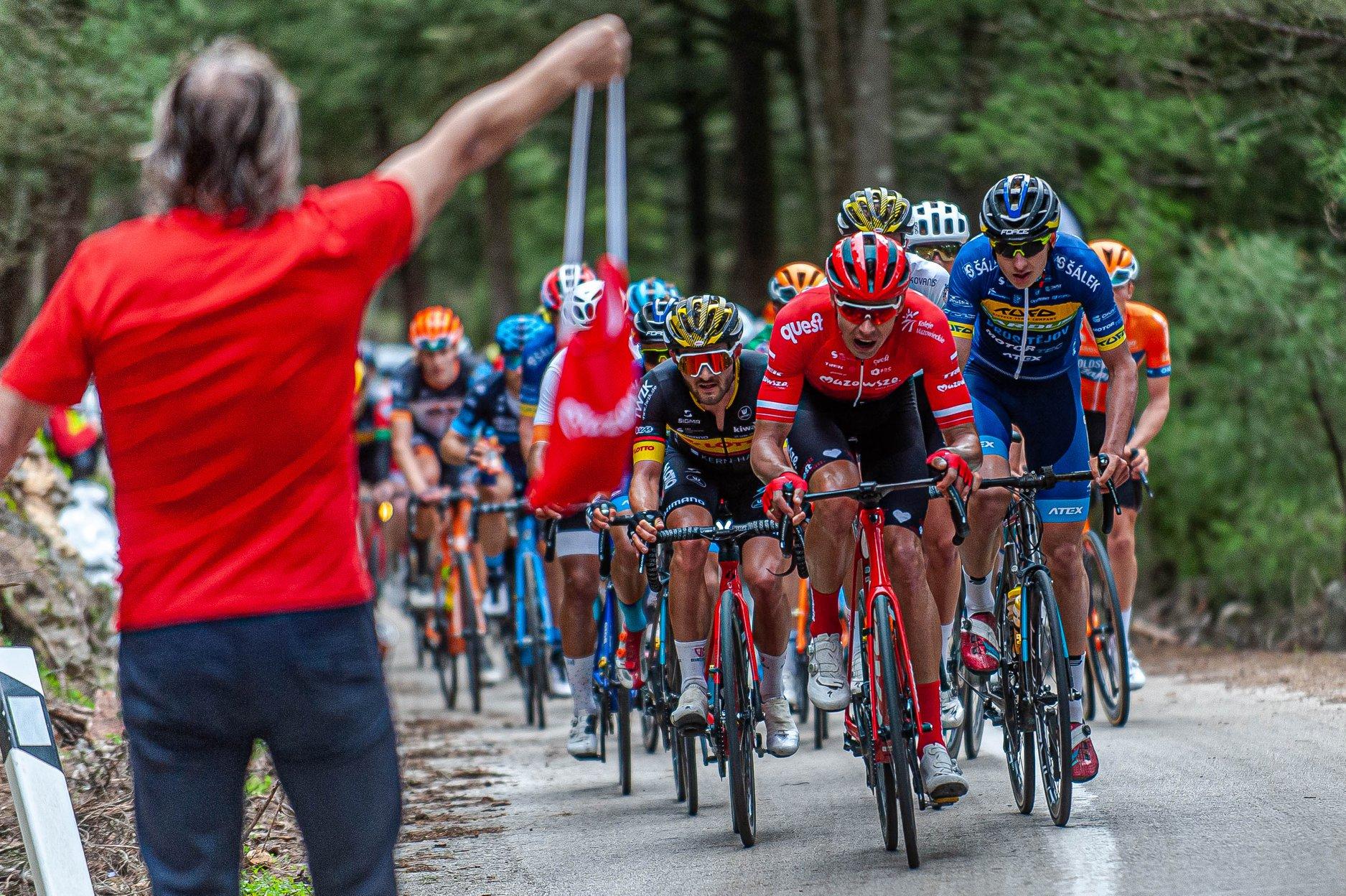 Paweł Bernas na podium International Tour of Rhodes
